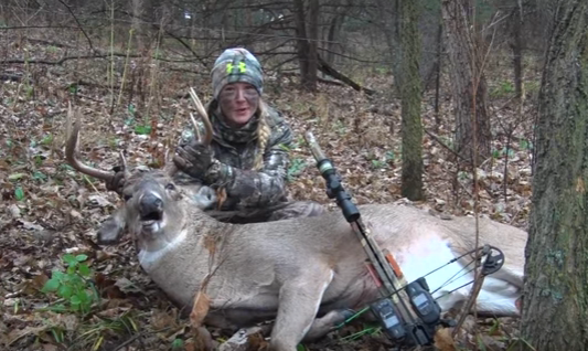 First Deer Friday: Two Chances for Her Crossbow Buck -