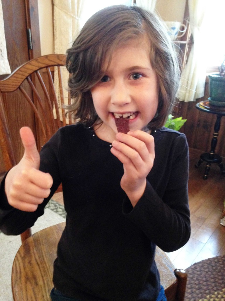 Properly prepared venison jerky will bring smiles to your entire family. (photo by Dan Schmidt)