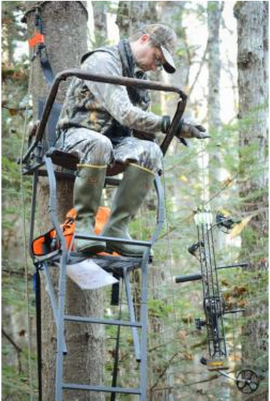 TREESTAND Photo by Tom Rogers Falling from tree stands is a major cause of hunting injuries. don't ignore these top tips for hunting from treestands deer