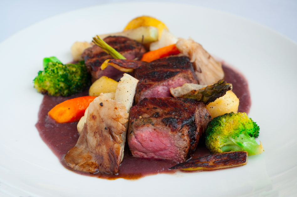 Venison Backstrap with Demi-Glace