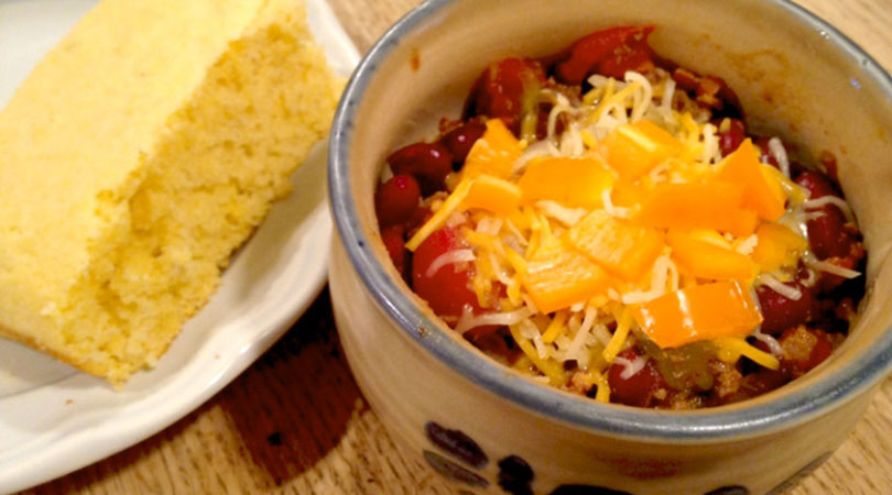 chili with bacon